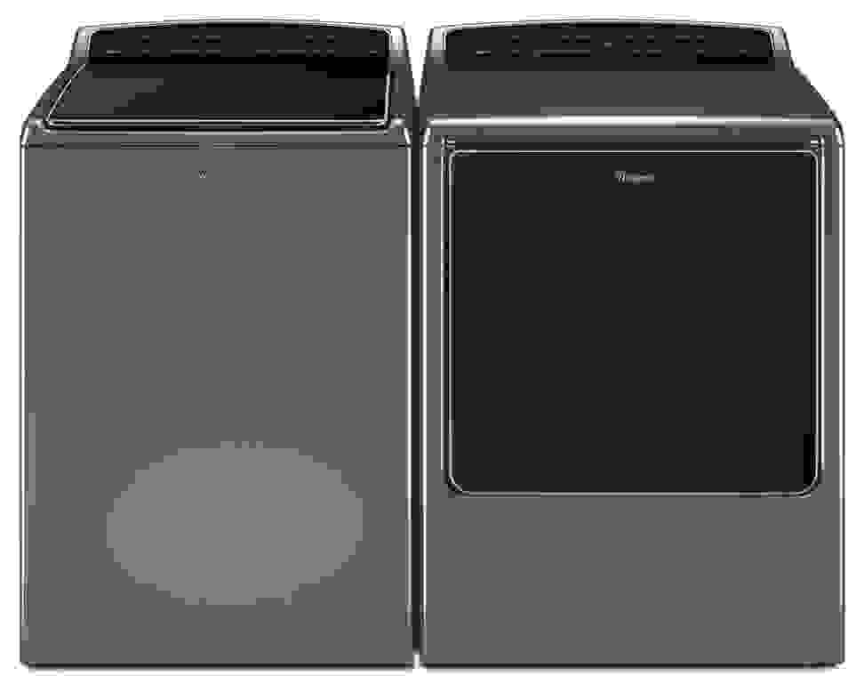 Whirlpool WTW8700EC0 and WED8700EC0 smart washer and dryer pair