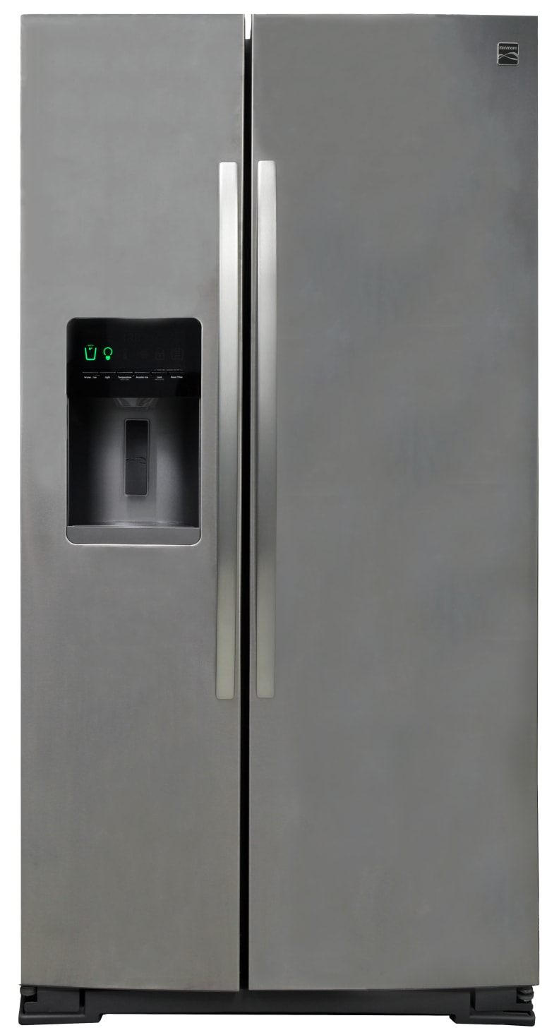 The Kenmore 51763 side-by-side refrigerator exterior