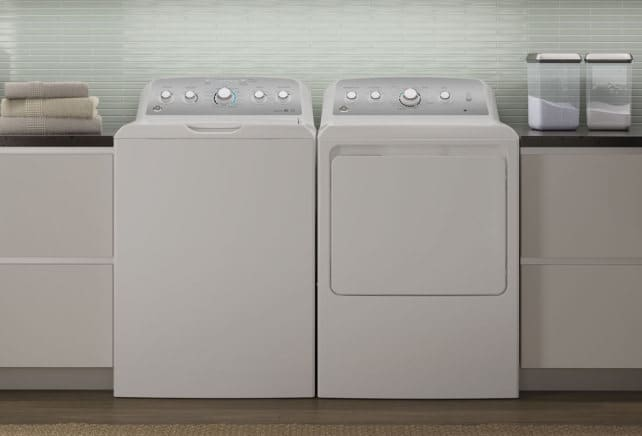 GE GTW680BSJWS and matching dryer