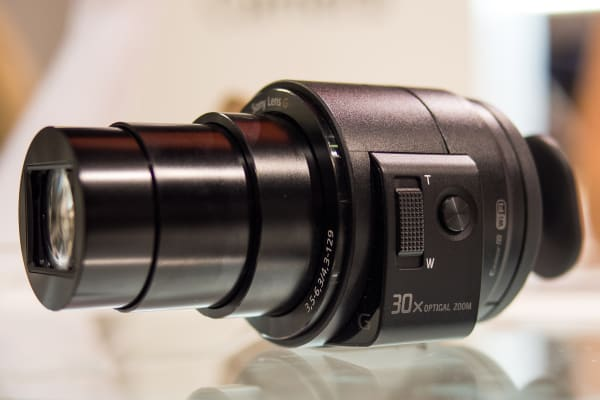 On the left are the zoom rocker and physical shutter button.