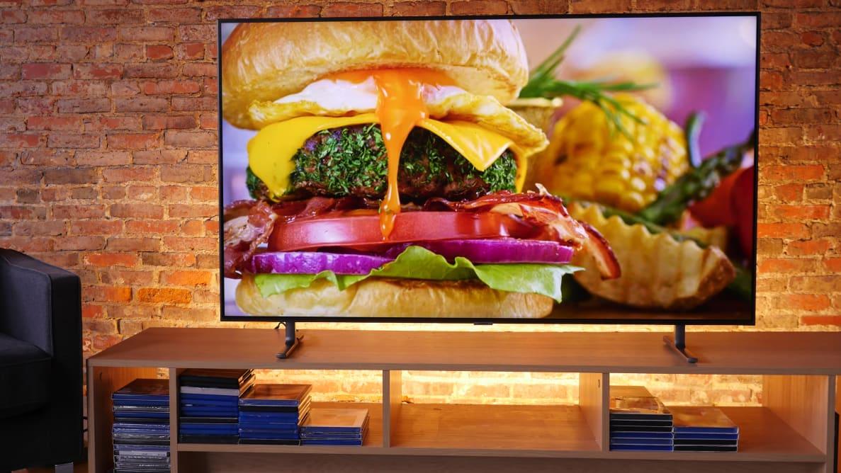 The 55-inch Samsung Q80R TV