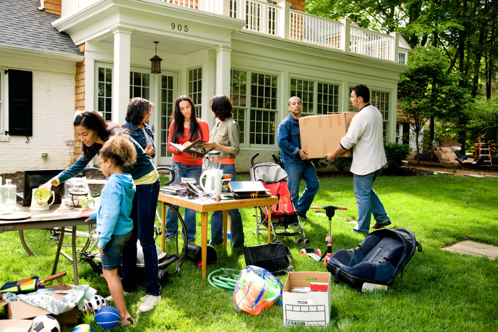 Yard sales are a great way to get rid of stuff you don't want