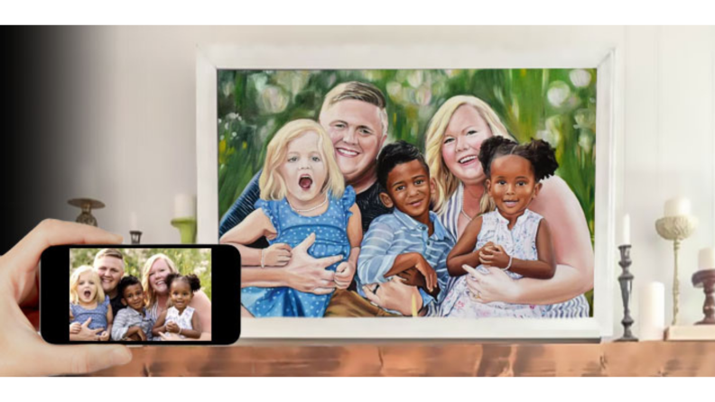 Personalized Mother's Day gifts: Custom painting