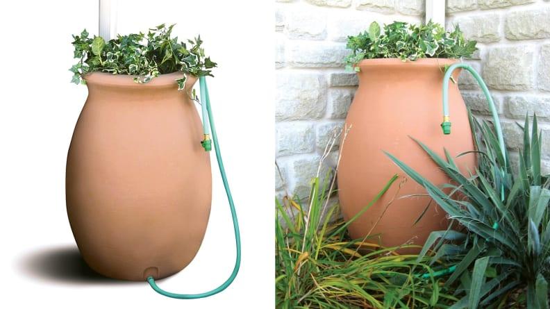 Algreen Rain Barrel Planter