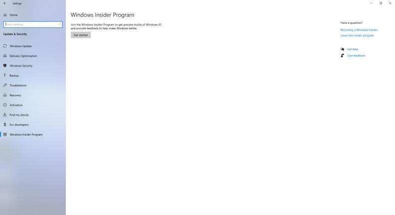 Windows Insider First Steps