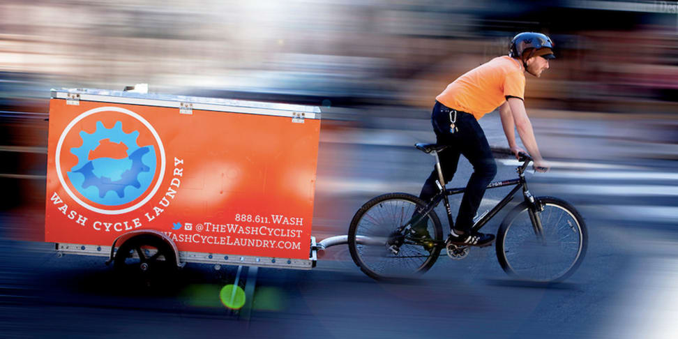 Wash Cycle Laundry's Cargo Tricycle
