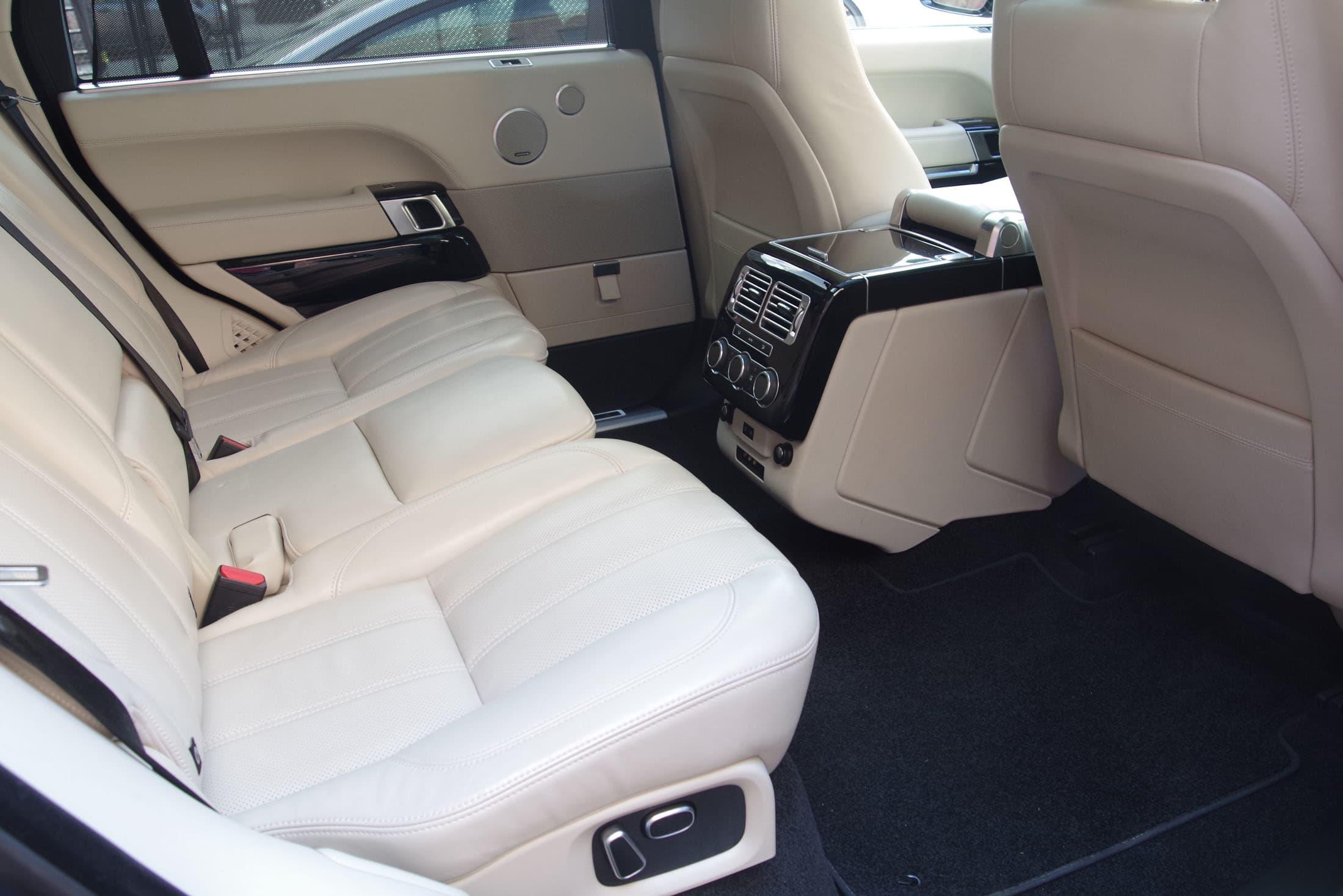 rear seat view
