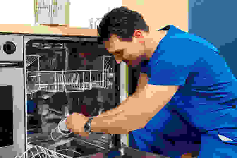 Cleaning dishwasher filter