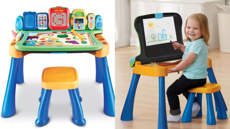 A versatile activity center that's sure to keep them occupied for hours.
