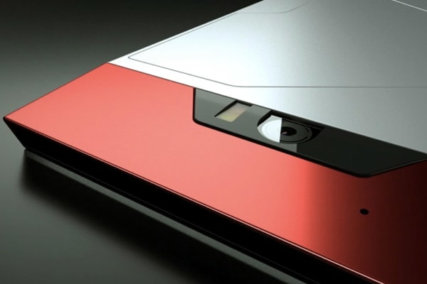 A close-up of the Turing Phone's camera