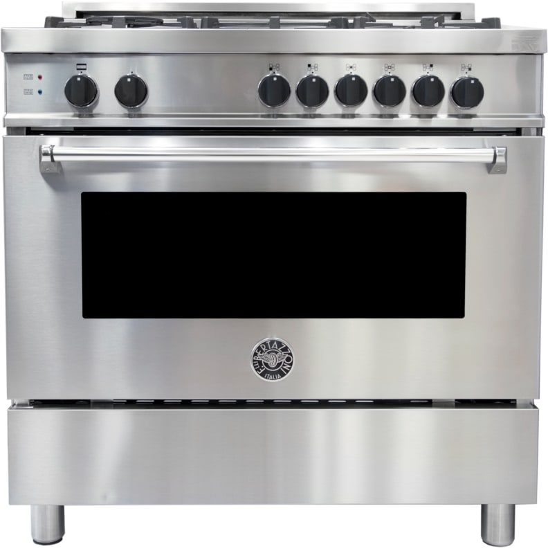 The Bertazzoni MAS365GASXE gas range.