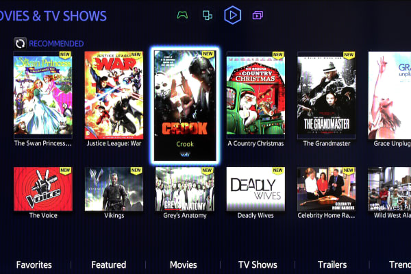Most movies and TV shows have to be purchased a la carte on Smart Hub.