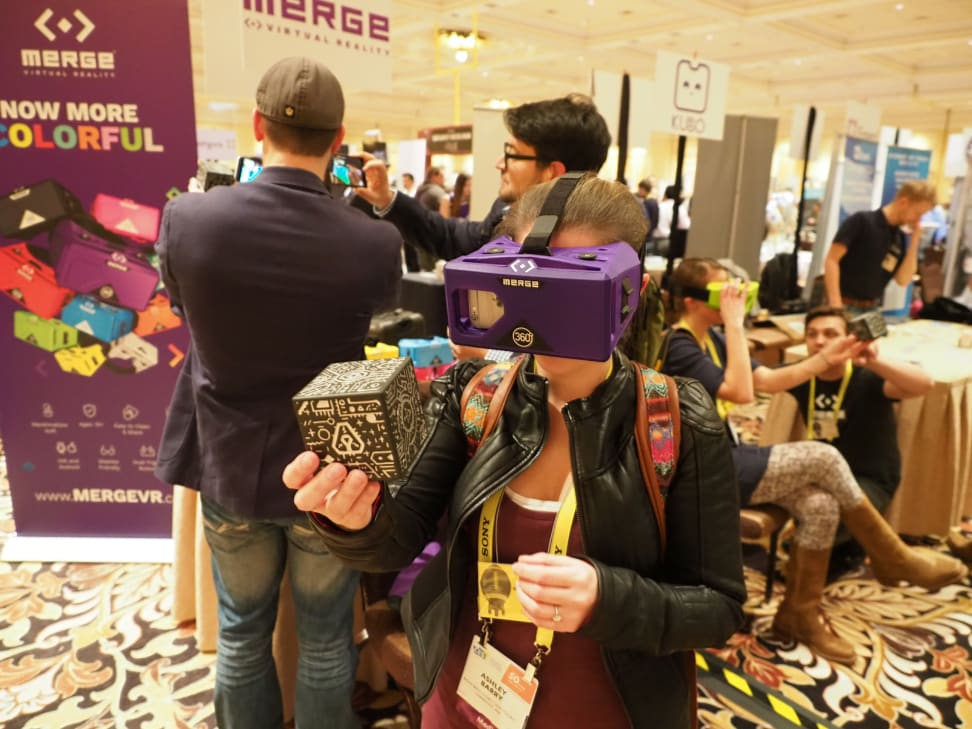 You can interact with holographic worlds thanks to this headset.