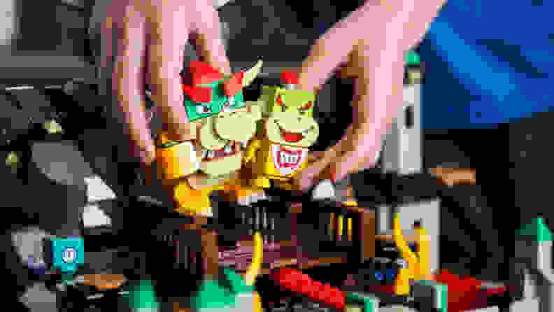 Bowser and Bowser Junior Lego toys