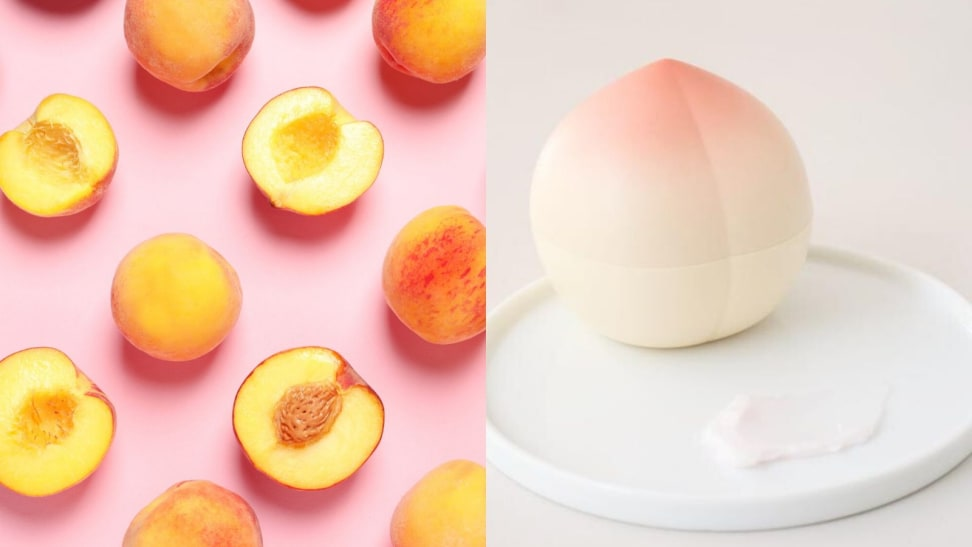I'm obsessed with this peach hand cream