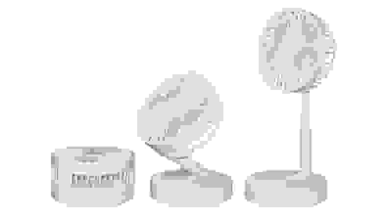 A collapsible fan from Bell + Howell, at HSN, against a white backdrop.