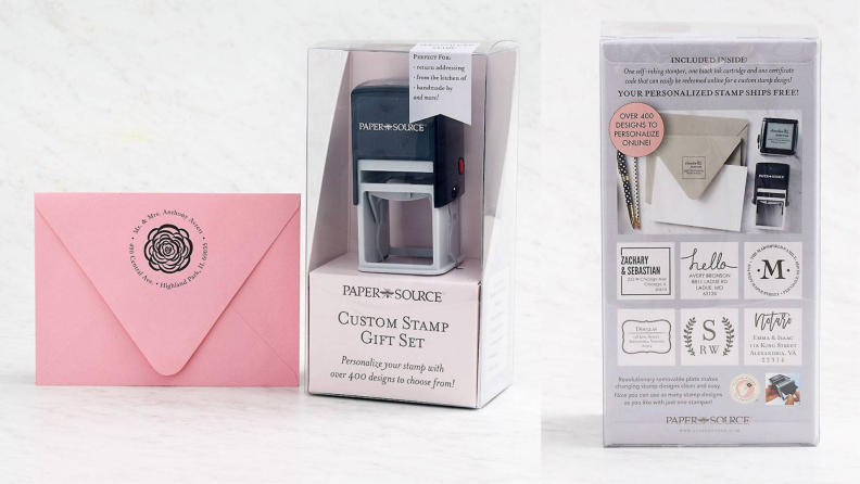 Paper Source custom stamp gift set