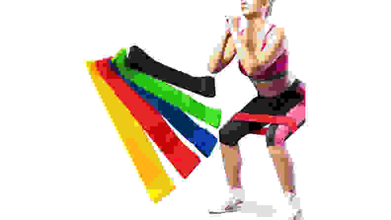 Ezonedeal Exercise Workout Resistance Band Set