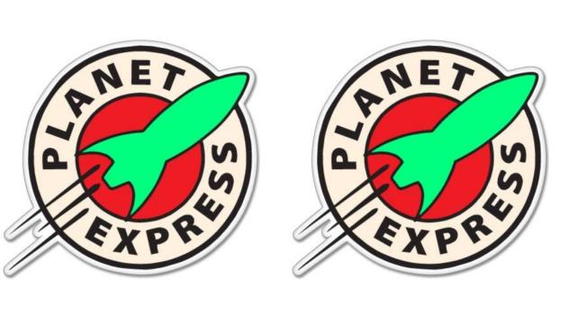 Sticky Pig Futurama Planet Express Vinyl Stickers