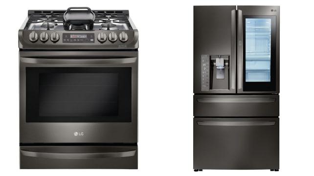 LG Black Stainless Steel Appliances