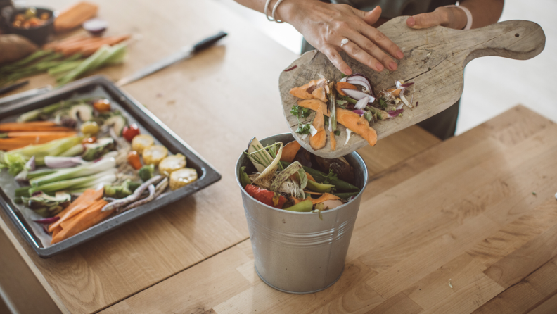 kitchen compost scraps