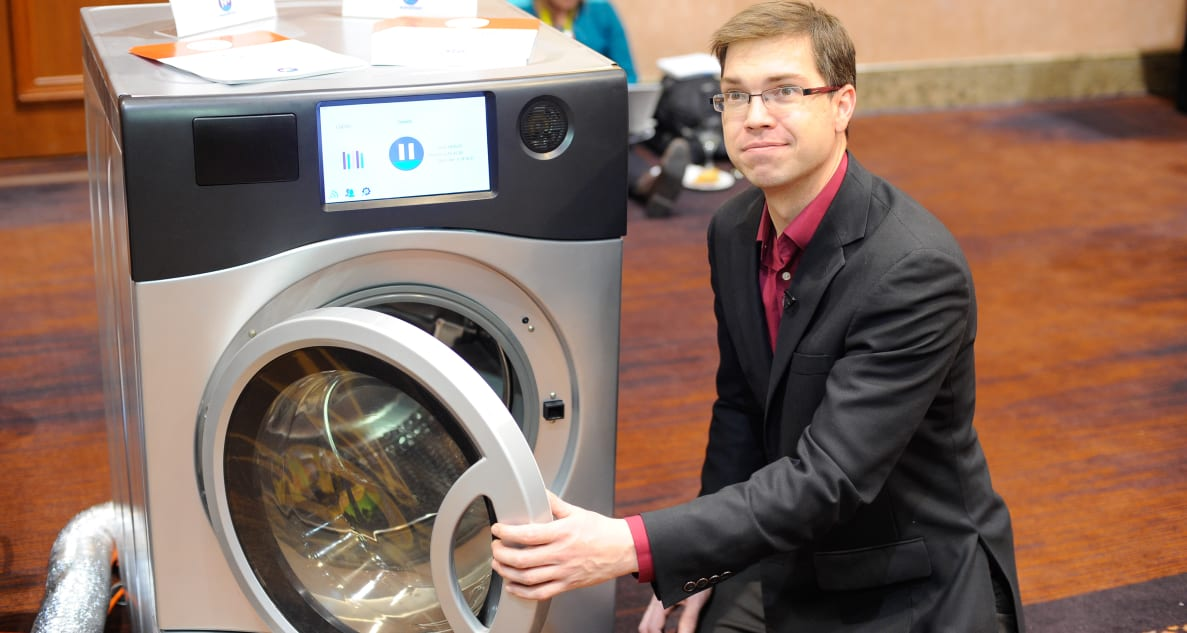 The Marathon laundry machine can washer and dry in the same unit.
