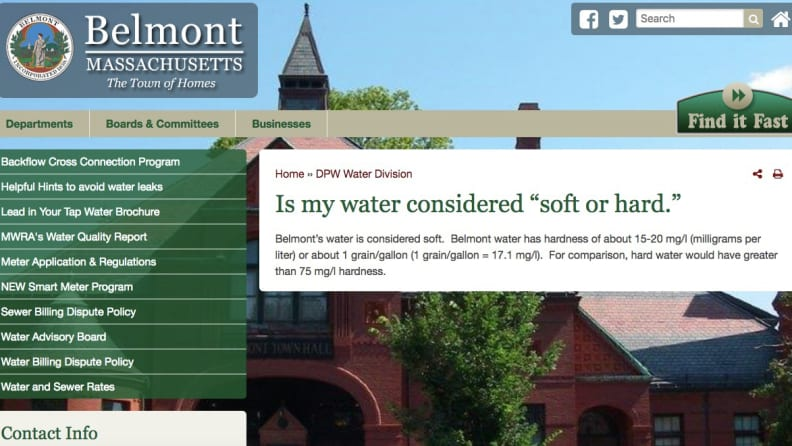 Water-hardness-in-local-town