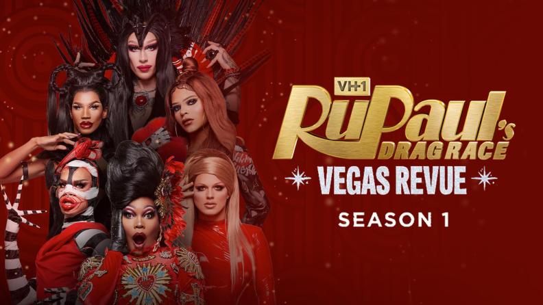 The promotional art of RuPaul's Las Vegas Revue.