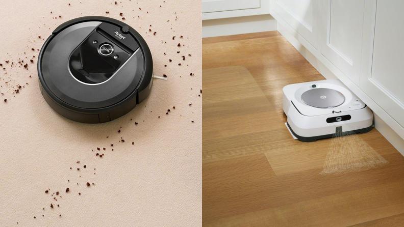 irobot vacuum and mop