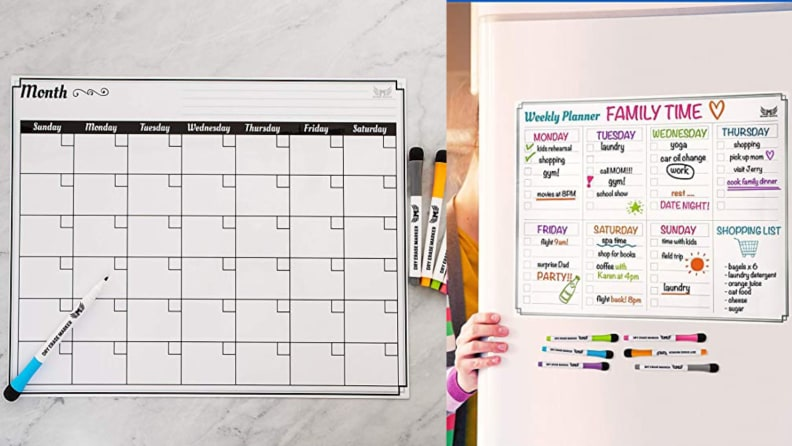 Mommy Marvel Dry Erase Monthly Calendar Set