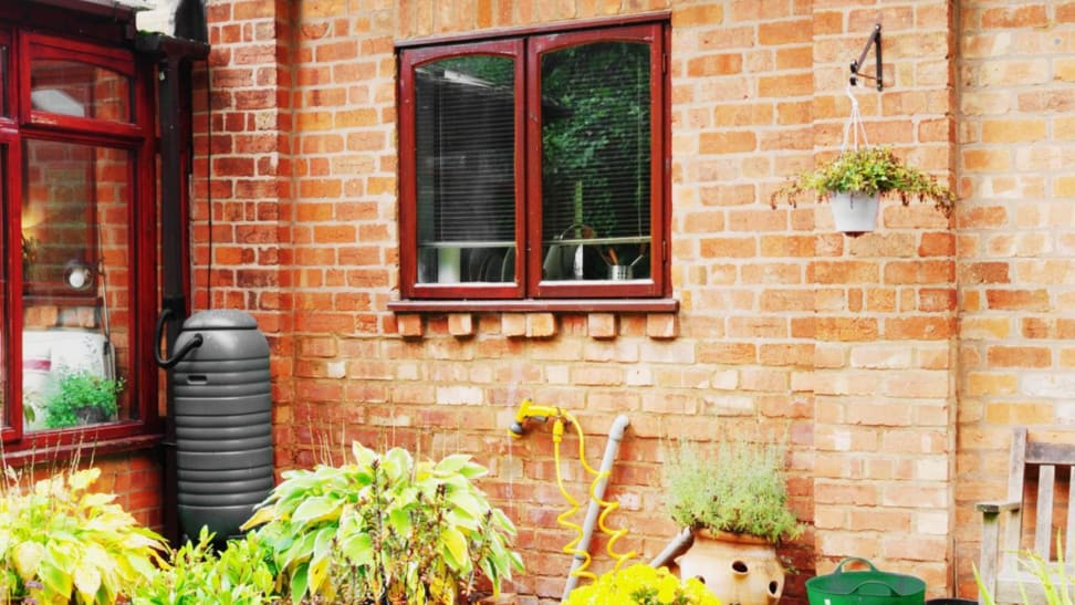 rain barrel is an eco-friendly option for watering your yard
