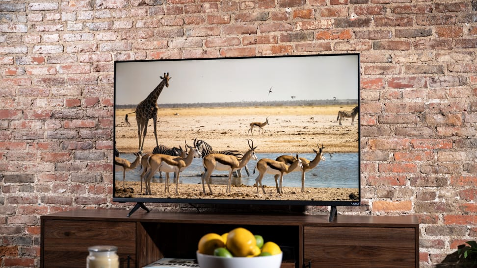 The 2021/2022 Vizio M-Series displaying 4K content in a living room setting