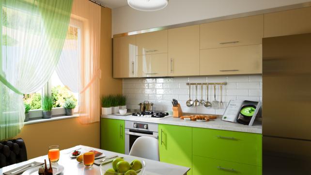 Green-kitchen-cabinets