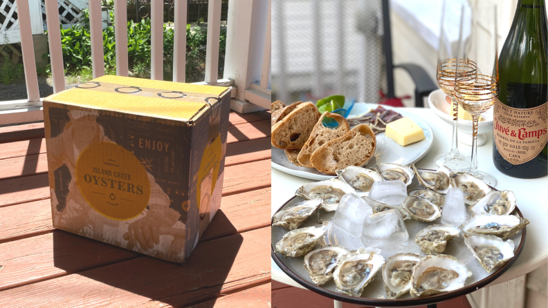 This family-owned oyster farm ships live oysters at no cost to you.