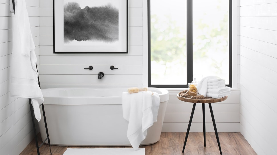 You can upgrade your bathroom with these hotel-quality bath linens.