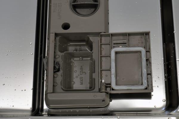 Maytag MDB8969SDM rinse aid and detergent dispenser