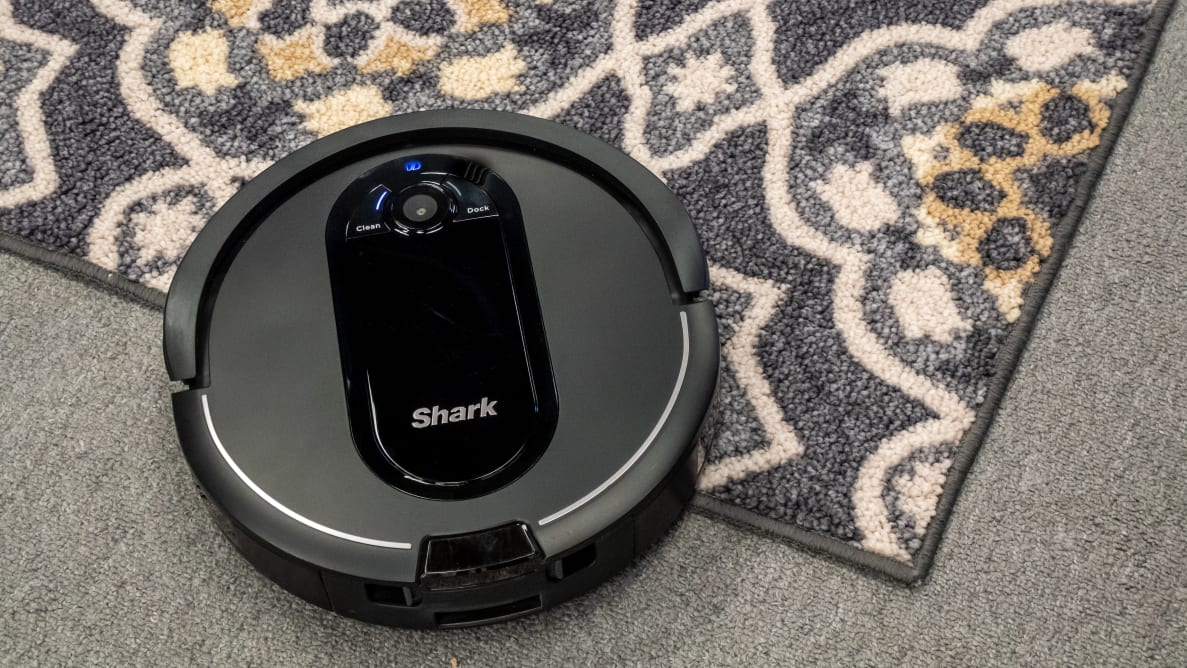 The Shark IQ R101AE is a self-emptying robot vacuum