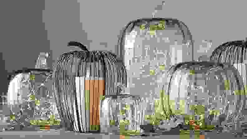 Pottery Barn Glass Pumpkin