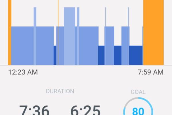 The Sleep screen