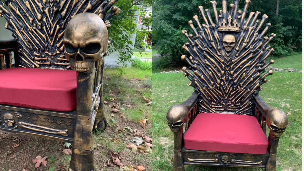 Get this Home Depot Bone Throne to rule Halloween