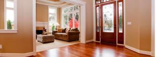Gleaming hardwood floor
