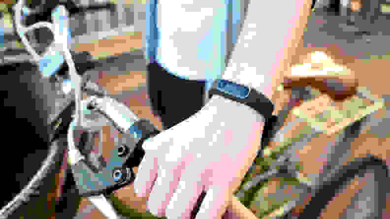 Garmin Vivosmart 4 on a bike