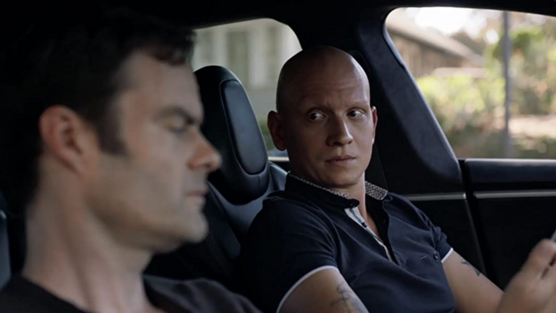 A still from Barry featuring Bill Hader and Anthony Carrigan.