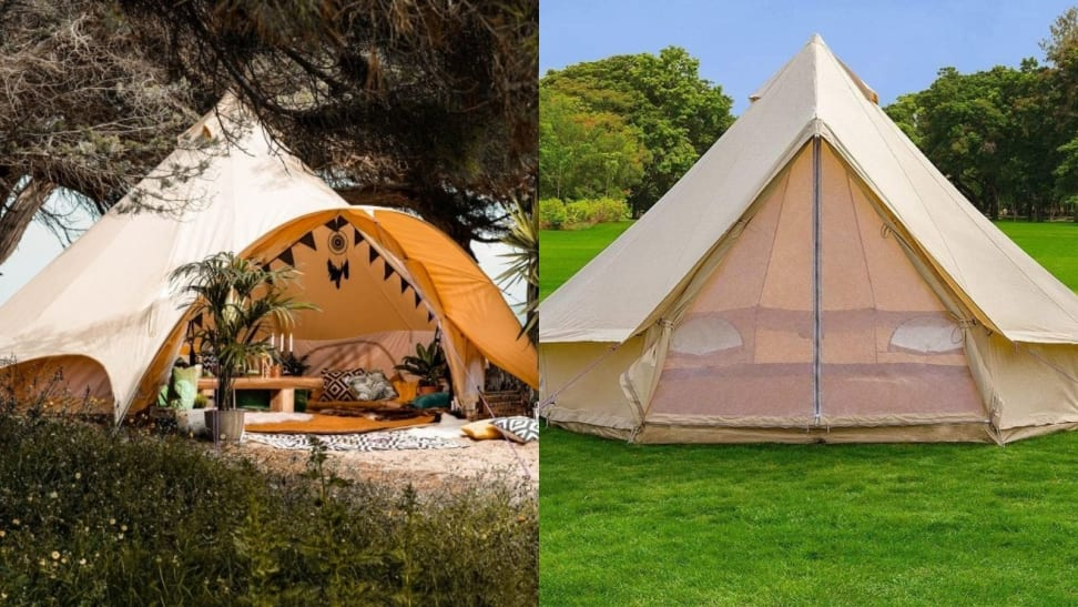 Two Glamping Bell Tents
