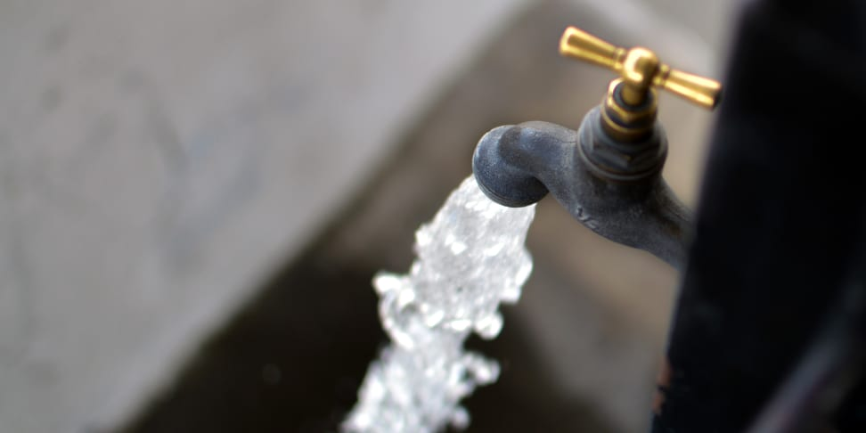 Faucet and water