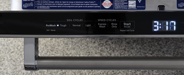 KitchenAid KDTM704ESS cycle selection controls