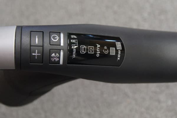 The majority of the controls can be accessed via the handle.