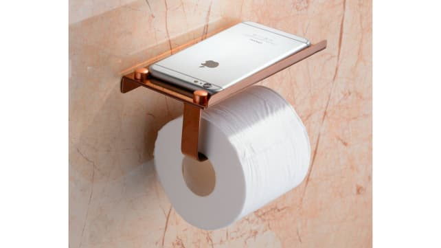 Beelee Rose Gold TP and Phone Holder