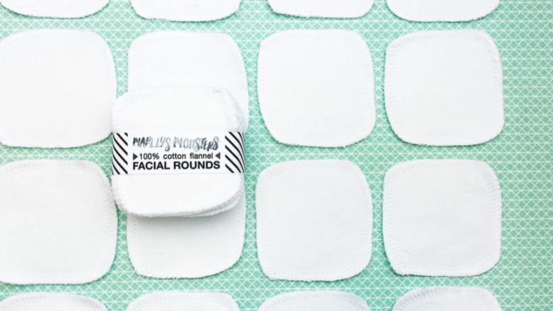 Fabric makeup pads.