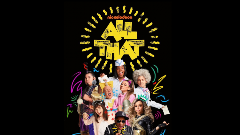 The title card from All That featuring the central players.